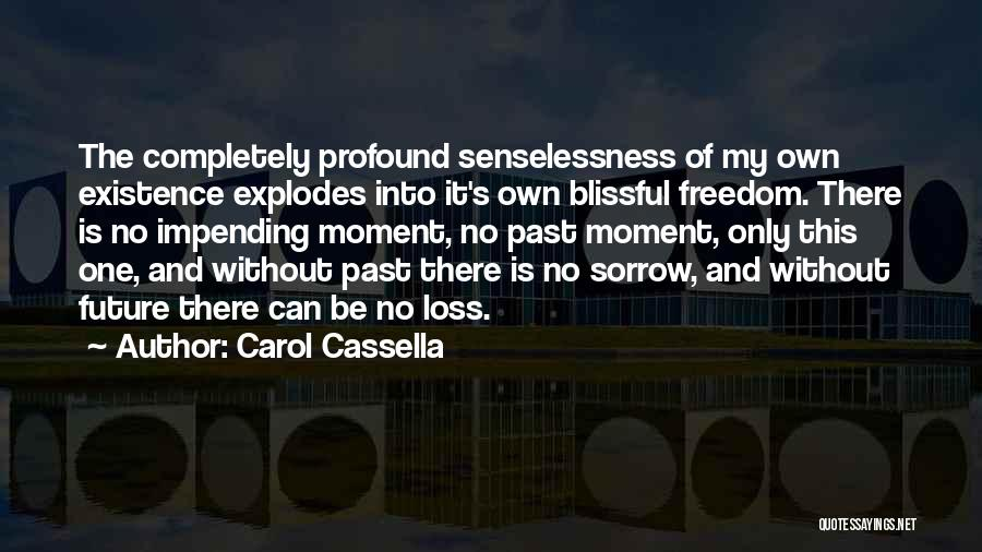 One's Future Quotes By Carol Cassella
