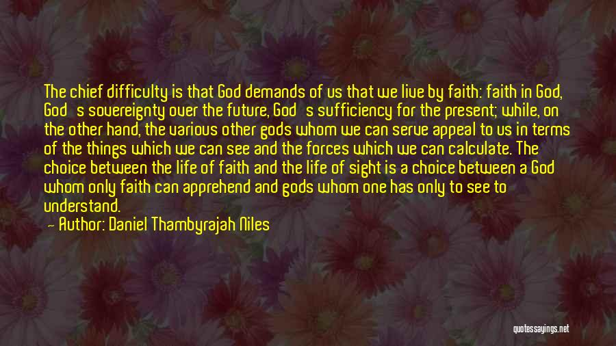 One's Future Quotes By Daniel Thambyrajah Niles
