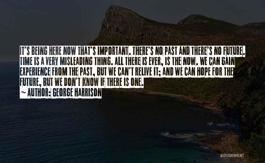 One's Future Quotes By George Harrison