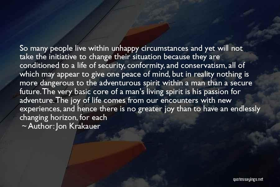 One's Future Quotes By Jon Krakauer