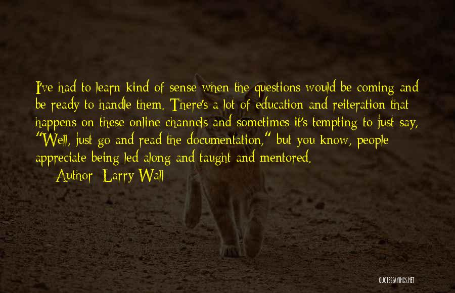 Online Education Quotes By Larry Wall