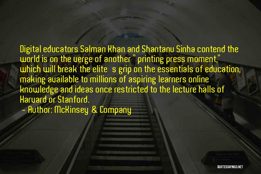 Online Education Quotes By McKinsey & Company