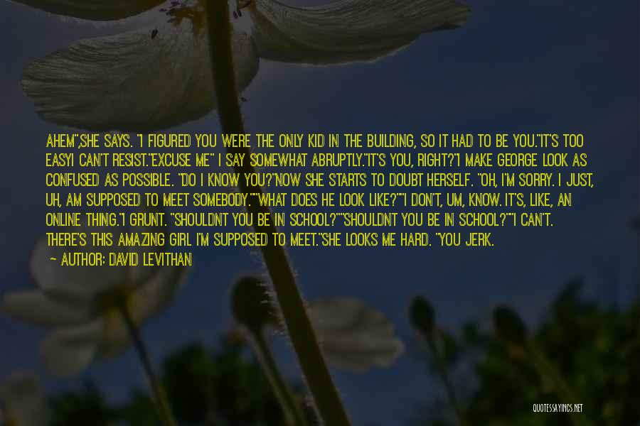 Online School Quotes By David Levithan