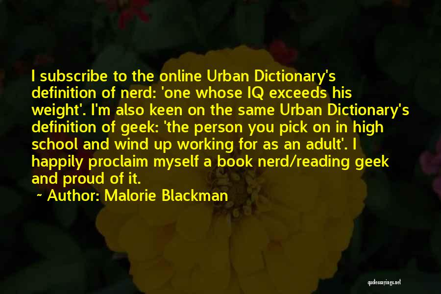 Online School Quotes By Malorie Blackman