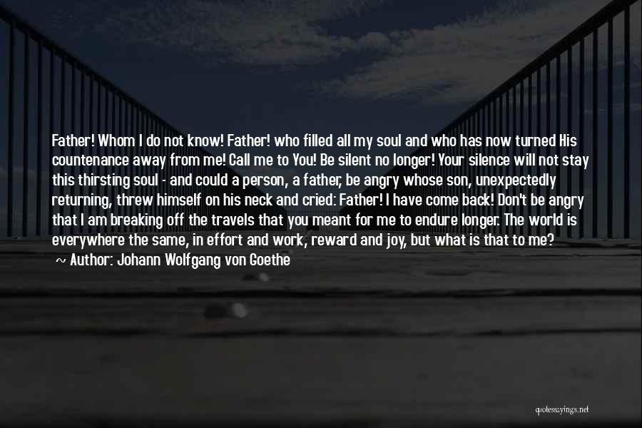 Only Person For Me Quotes By Johann Wolfgang Von Goethe