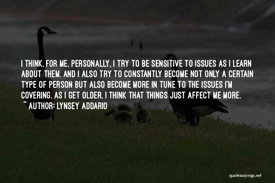Only Person For Me Quotes By Lynsey Addario