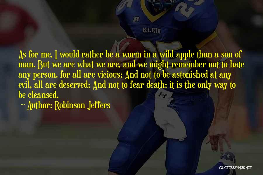 Only Person For Me Quotes By Robinson Jeffers