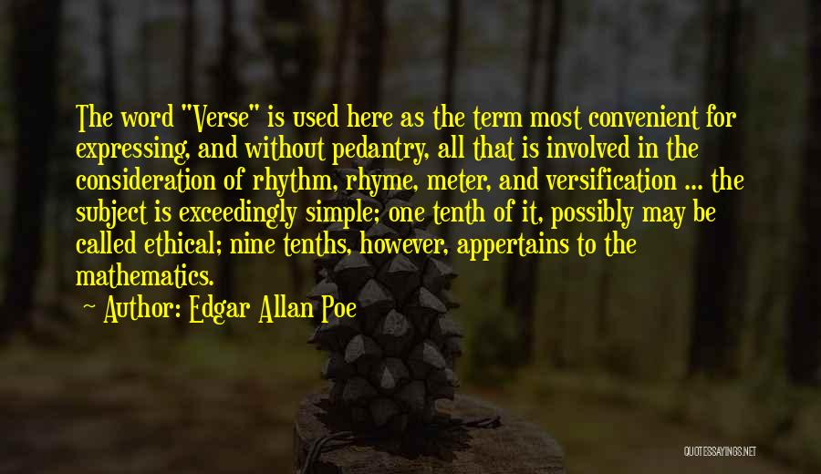 Only When It's Convenient Quotes By Edgar Allan Poe