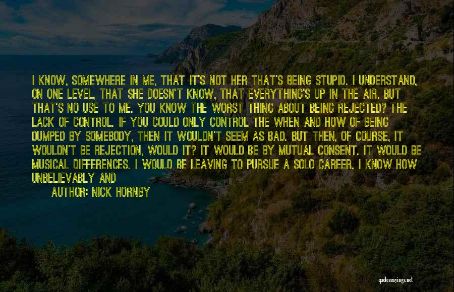 Only You Understand Me Quotes By Nick Hornby