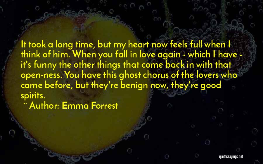 Open My Heart Again Quotes By Emma Forrest
