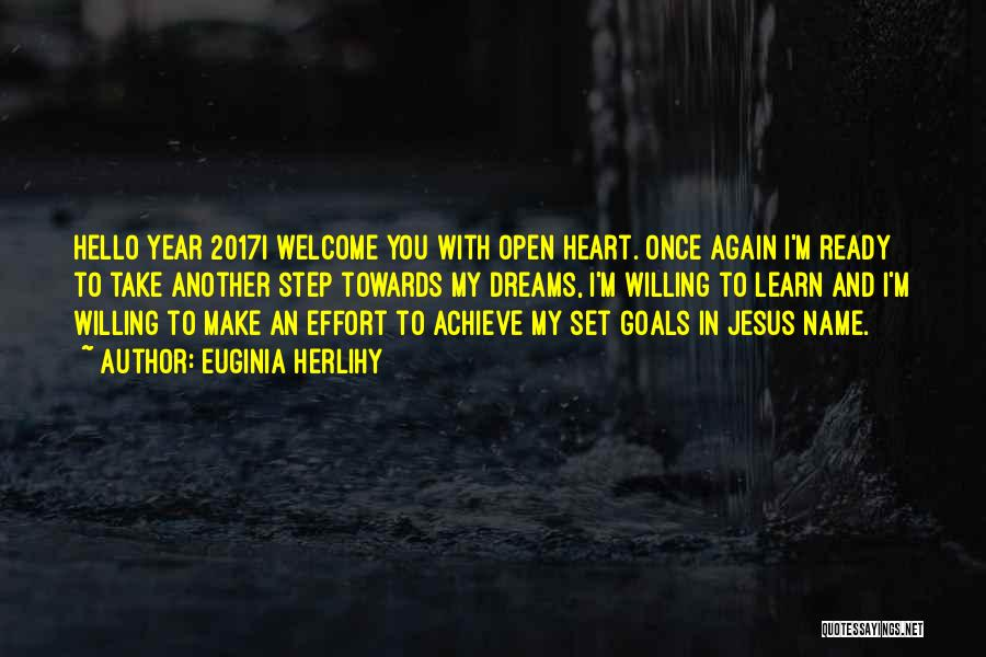 Open My Heart Again Quotes By Euginia Herlihy