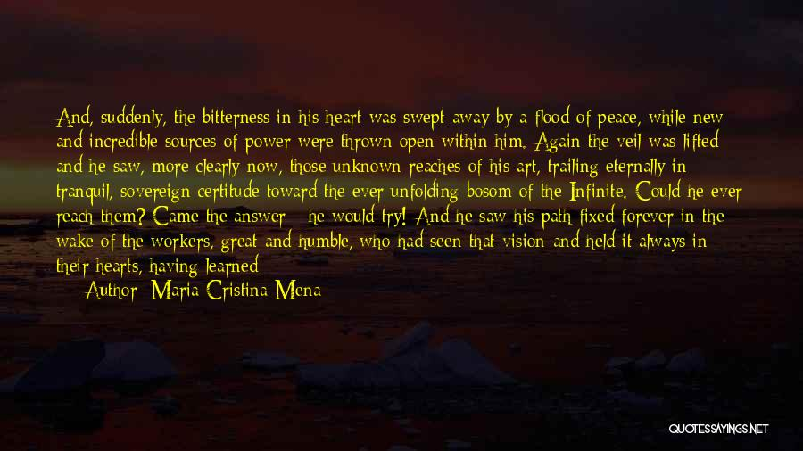 Open My Heart Again Quotes By Maria Cristina Mena