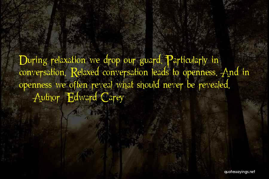 Openness Quotes By Edward Carey