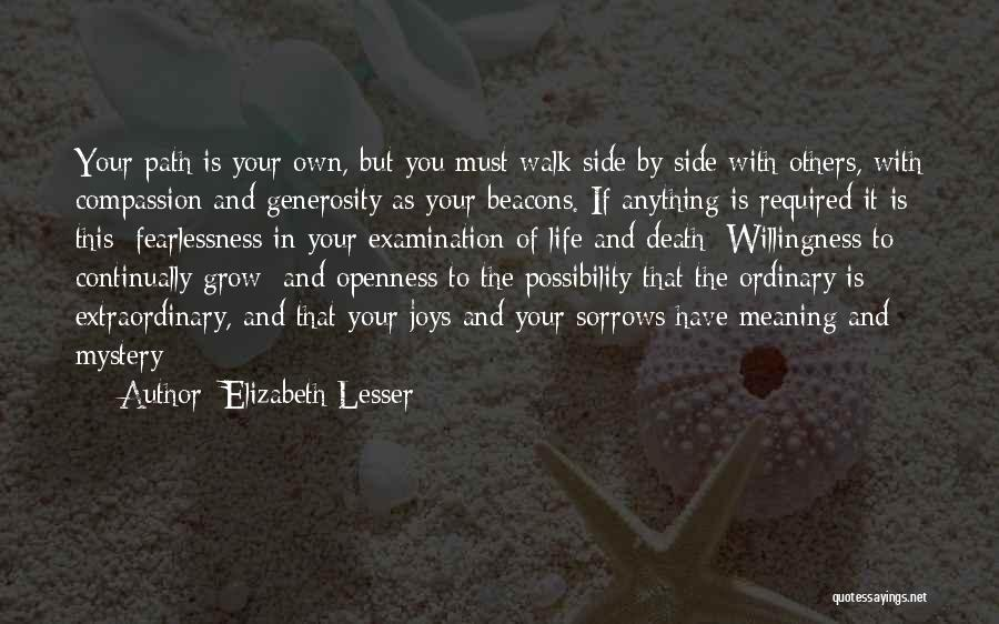 Openness Quotes By Elizabeth Lesser