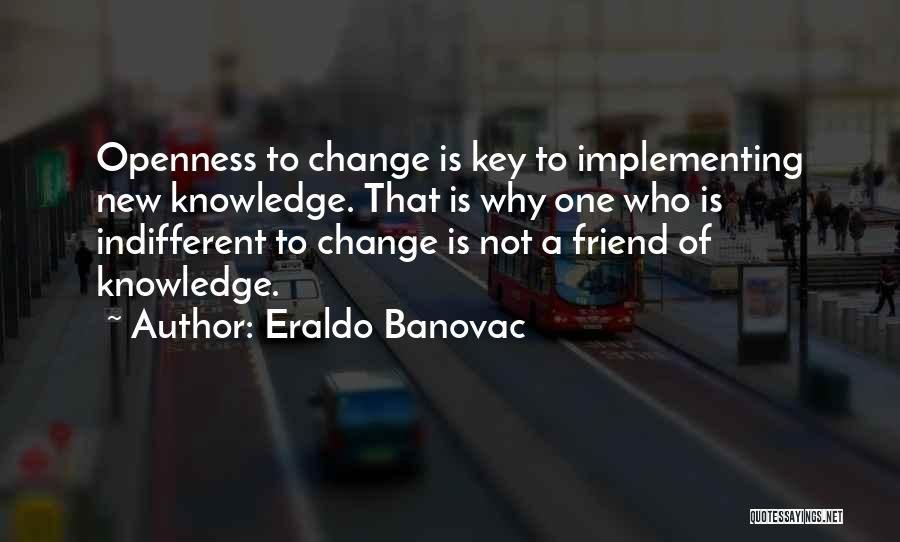 Openness Quotes By Eraldo Banovac