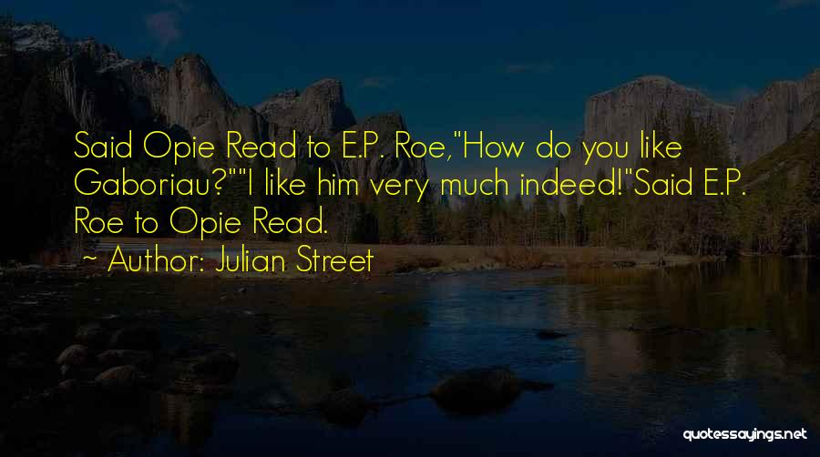 Opie Quotes By Julian Street