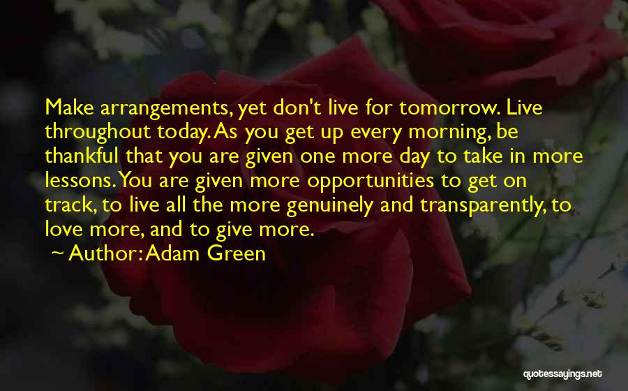 Opportunities In Love Quotes By Adam Green