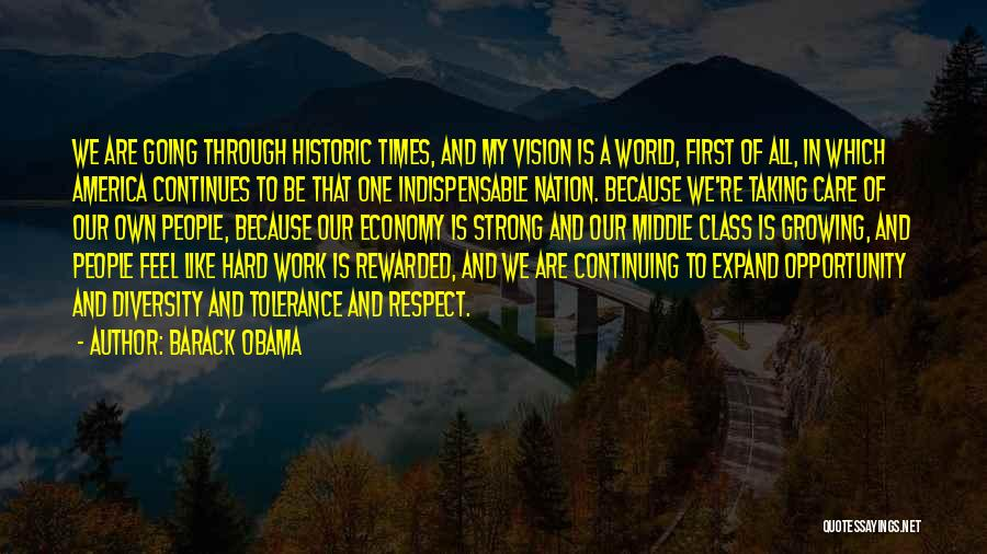 Opportunity And Hard Work Quotes By Barack Obama