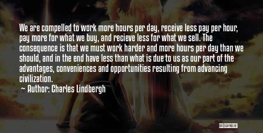 Opportunity And Hard Work Quotes By Charles Lindbergh