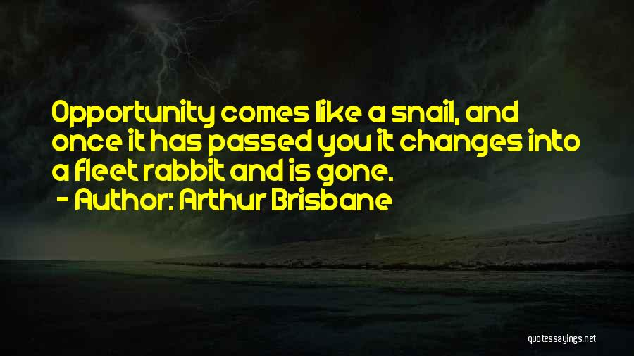 Opportunity Comes Once Quotes By Arthur Brisbane