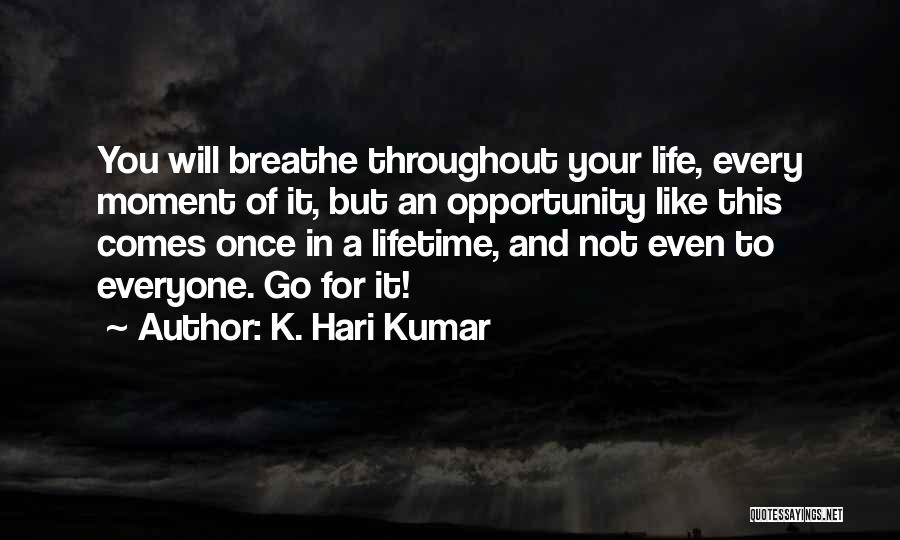 Opportunity Comes Once Quotes By K. Hari Kumar