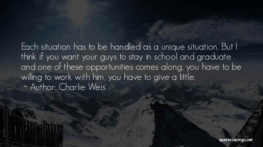 Opportunity Comes Quotes By Charlie Weis