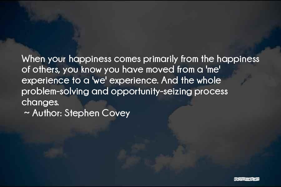 Opportunity Comes Quotes By Stephen Covey
