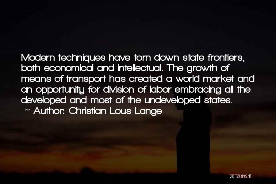 Opportunity Quotes By Christian Lous Lange