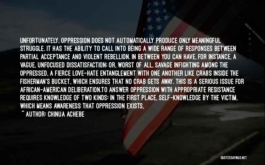 Oppressed Oppressor Quotes By Chinua Achebe