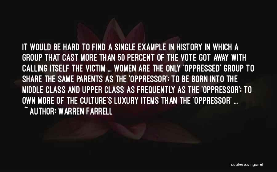 Oppressed Oppressor Quotes By Warren Farrell