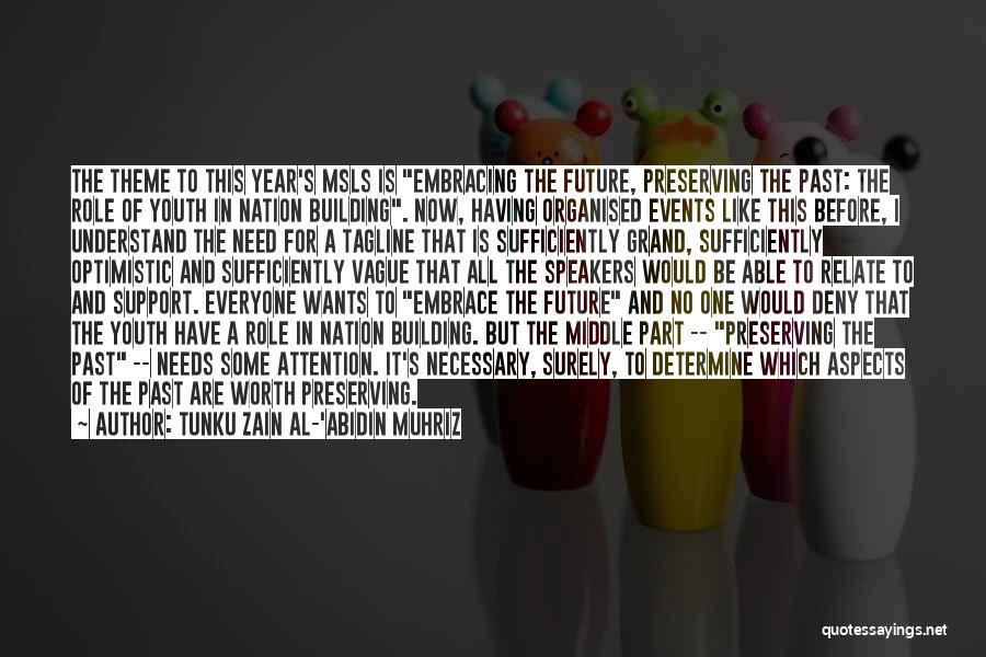 Optimistic Future Quotes By Tunku Zain Al-'Abidin Muhriz