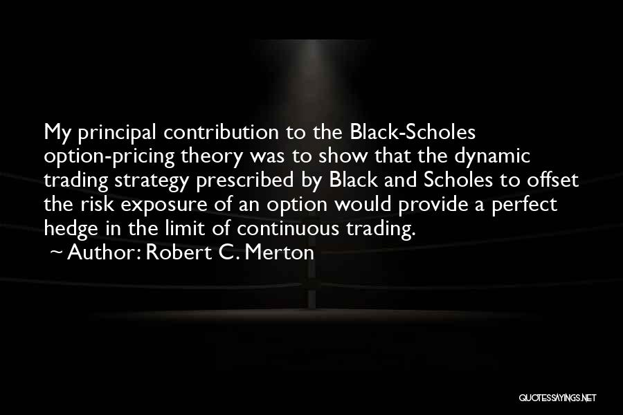 Option Trading Quotes By Robert C. Merton