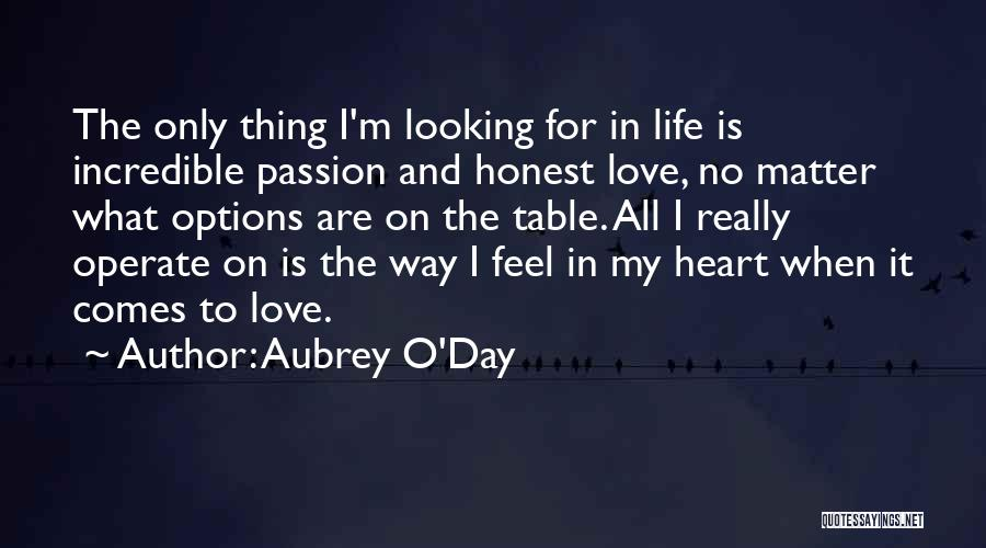 Options In Love Quotes By Aubrey O'Day