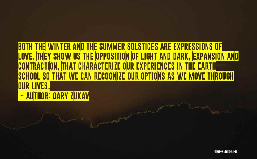 Options In Love Quotes By Gary Zukav