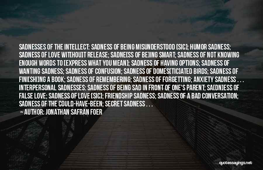 Options In Love Quotes By Jonathan Safran Foer