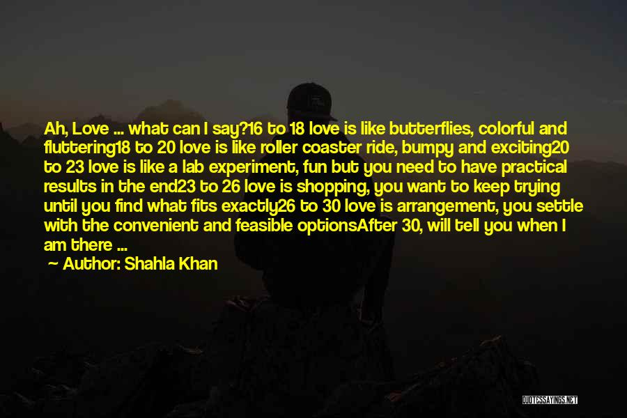 Options In Love Quotes By Shahla Khan