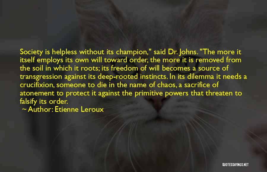 Order In Chaos Quotes By Etienne Leroux