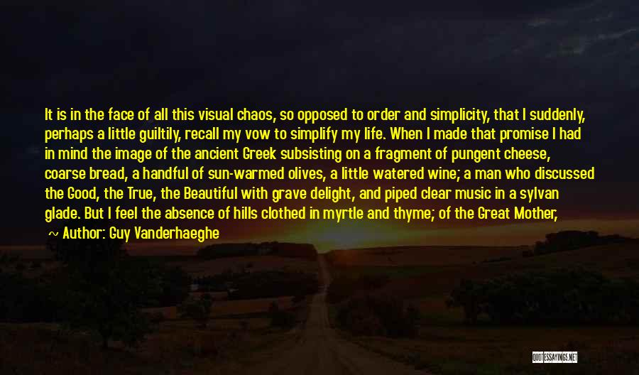 Order In Chaos Quotes By Guy Vanderhaeghe