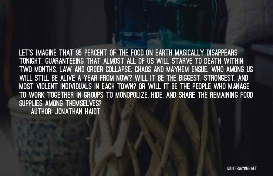 Order In Chaos Quotes By Jonathan Haidt