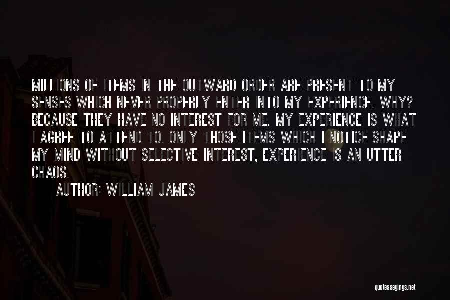 Order In Chaos Quotes By William James