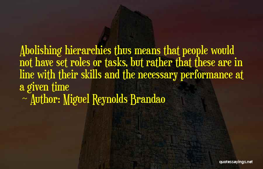 Organisational Performance Quotes By Miguel Reynolds Brandao