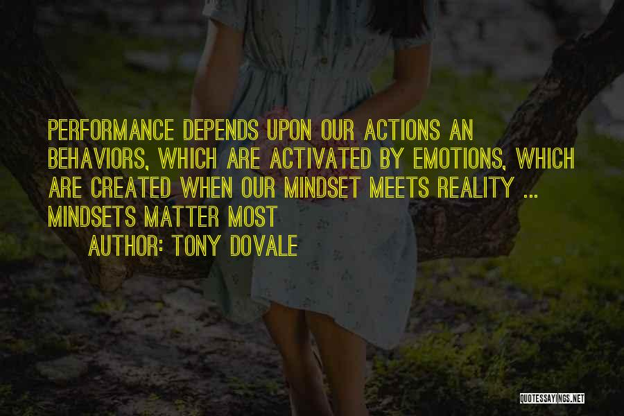 Organisational Performance Quotes By Tony Dovale