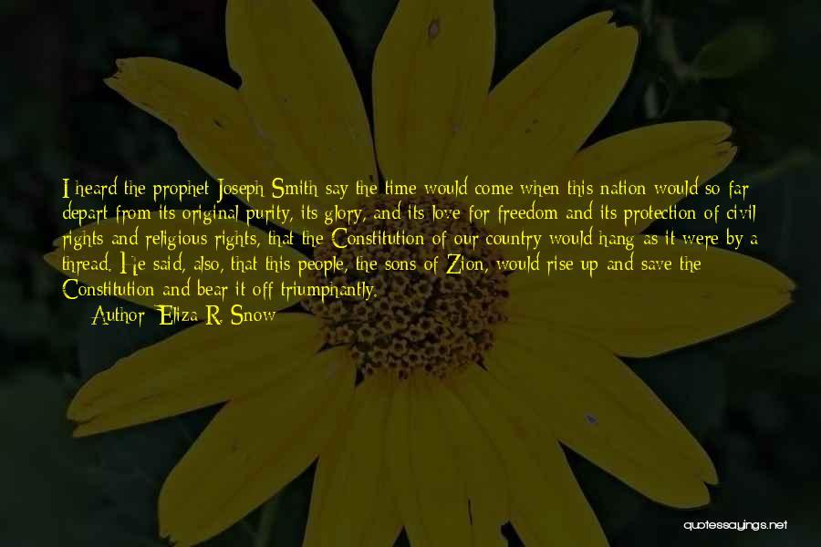 Original Love Quotes By Eliza R. Snow