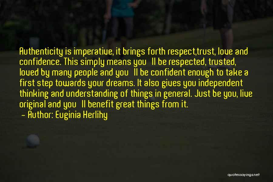 Original Love Quotes By Euginia Herlihy