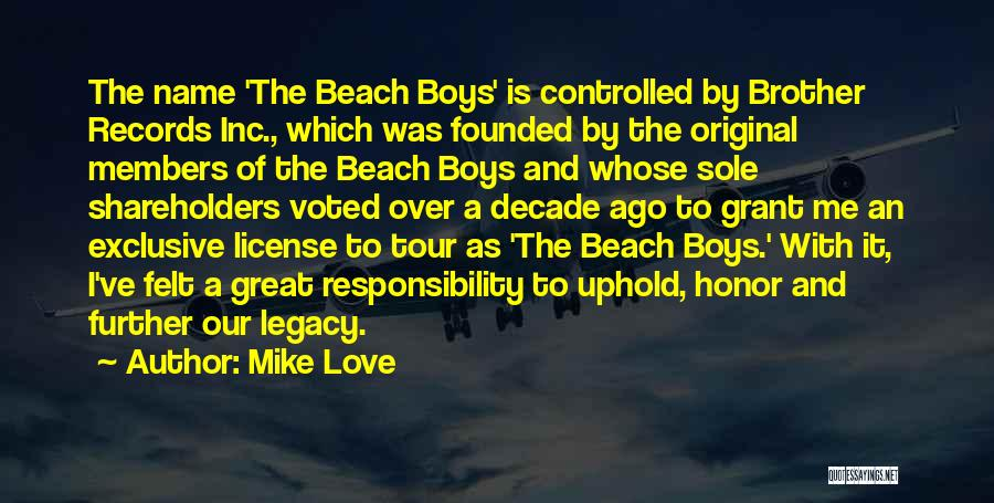 Original Love Quotes By Mike Love