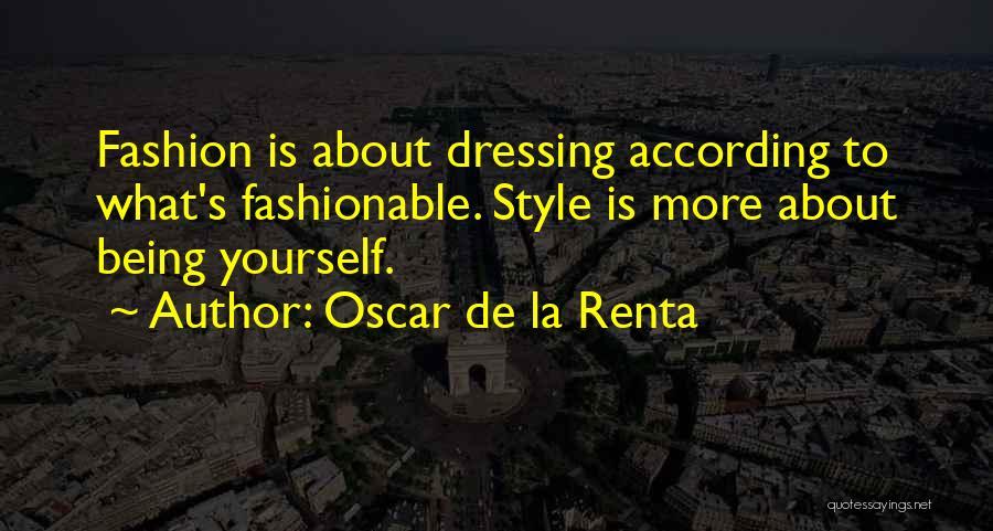 Oscar De La Renta Quotes 411378