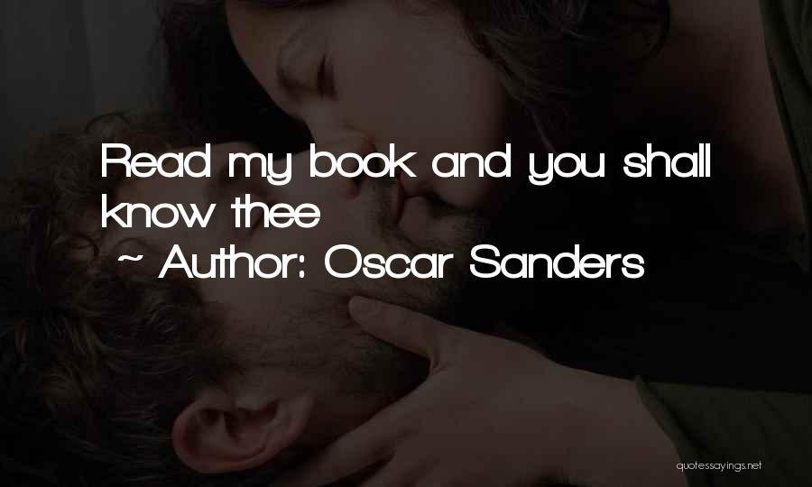 Oscar Sanders Quotes 1444684