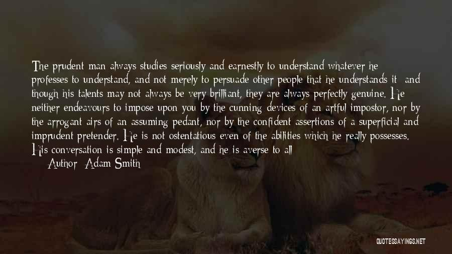 Ostentatious Quotes By Adam Smith