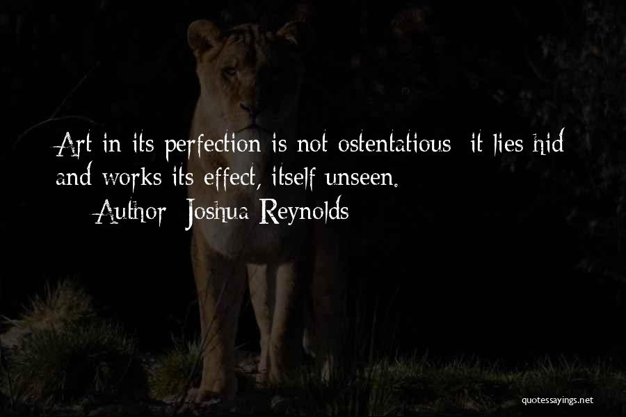 Ostentatious Quotes By Joshua Reynolds