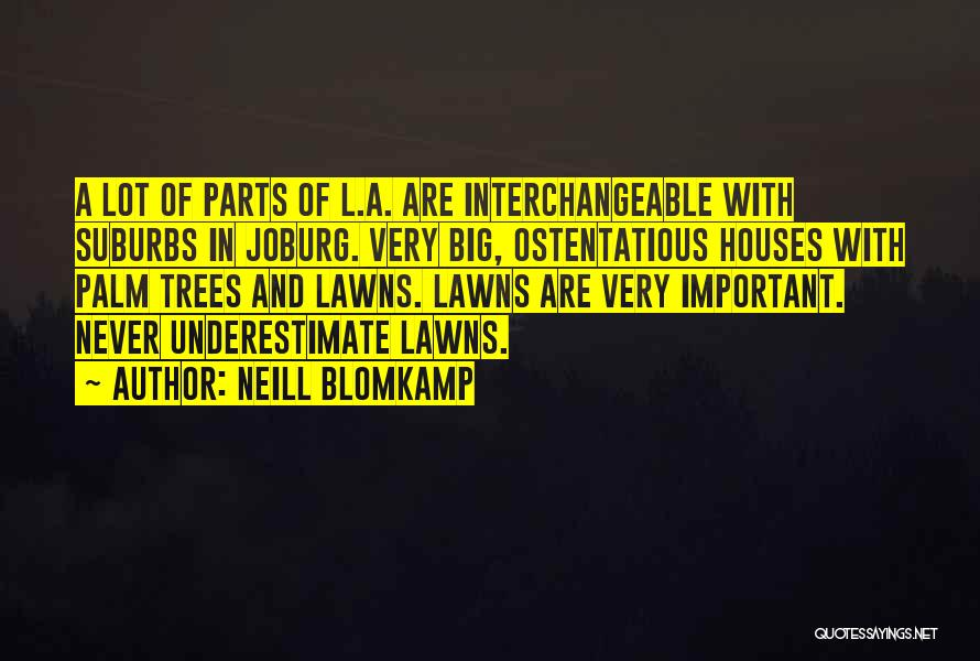 Ostentatious Quotes By Neill Blomkamp